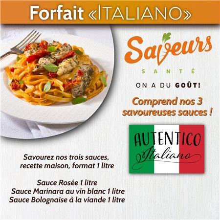 "Forfait ""Italiano"" Saveurs Santé"