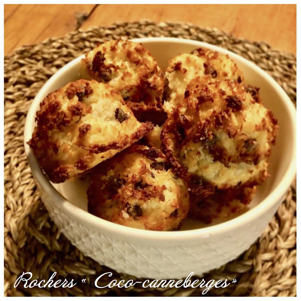 Coco-cranberries Rocks Saveurs Santé  Desserts