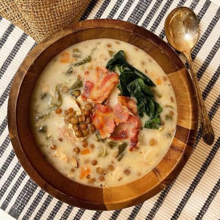 Italian lentils meal-soup Saveurs Santé  Soups-Meals