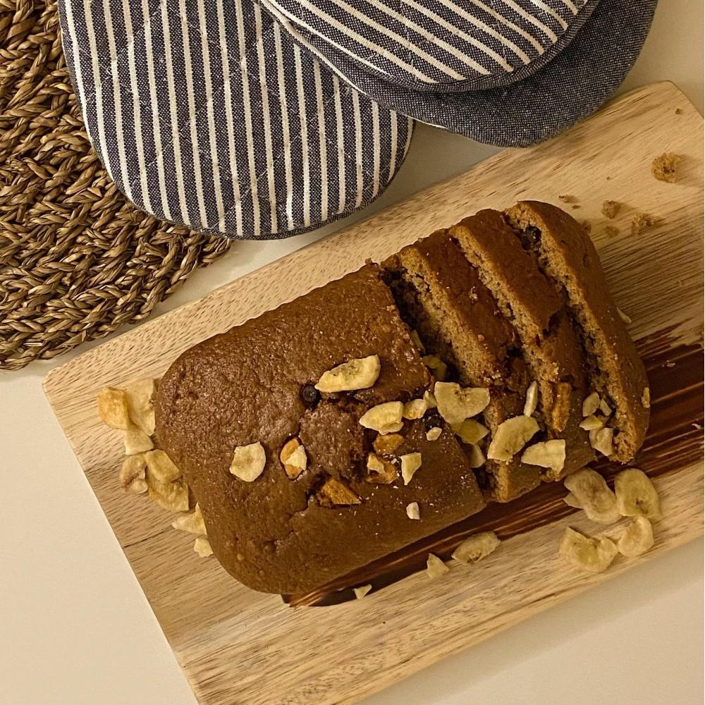 Choco-banana cake Saveurs Santé  Desserts