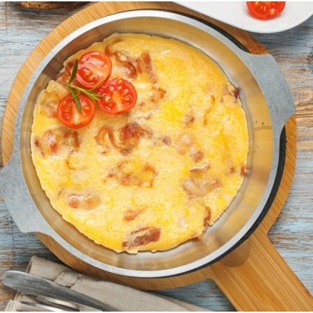 Omelette au jambon Saveurs Santé