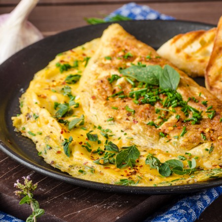 Cheese omelet Saveurs Santé  Lunches