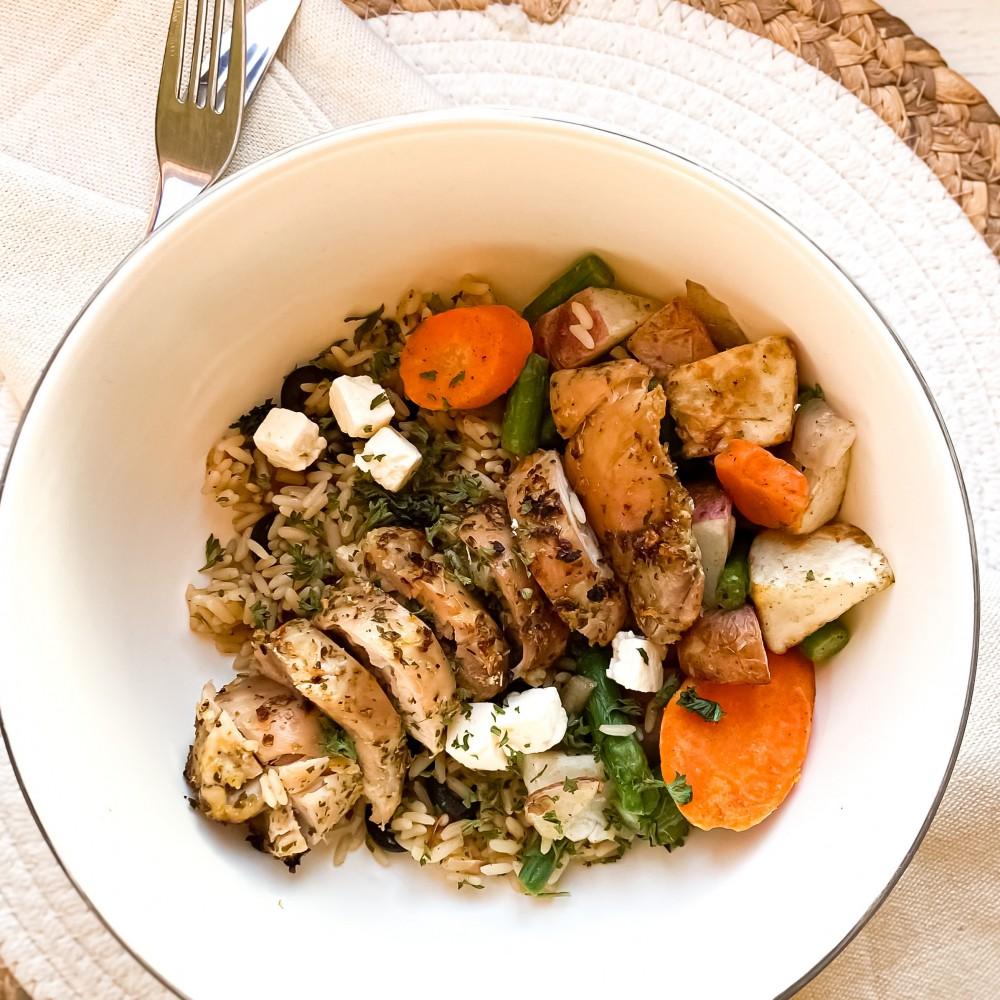 Grec style chicken Saveurs Santé  Individual Portions