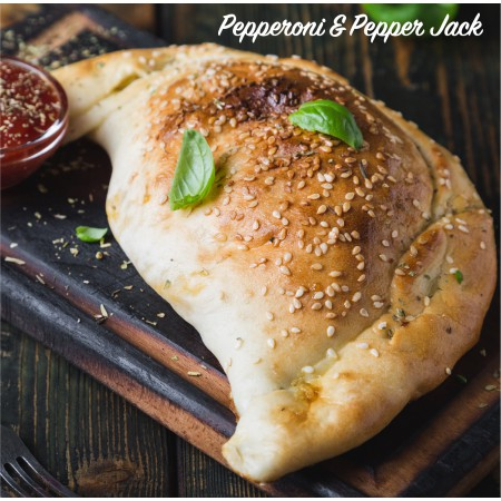 Pepperoni & Pepper Jack cheese Calzone Saveurs Santé  Individual Portions