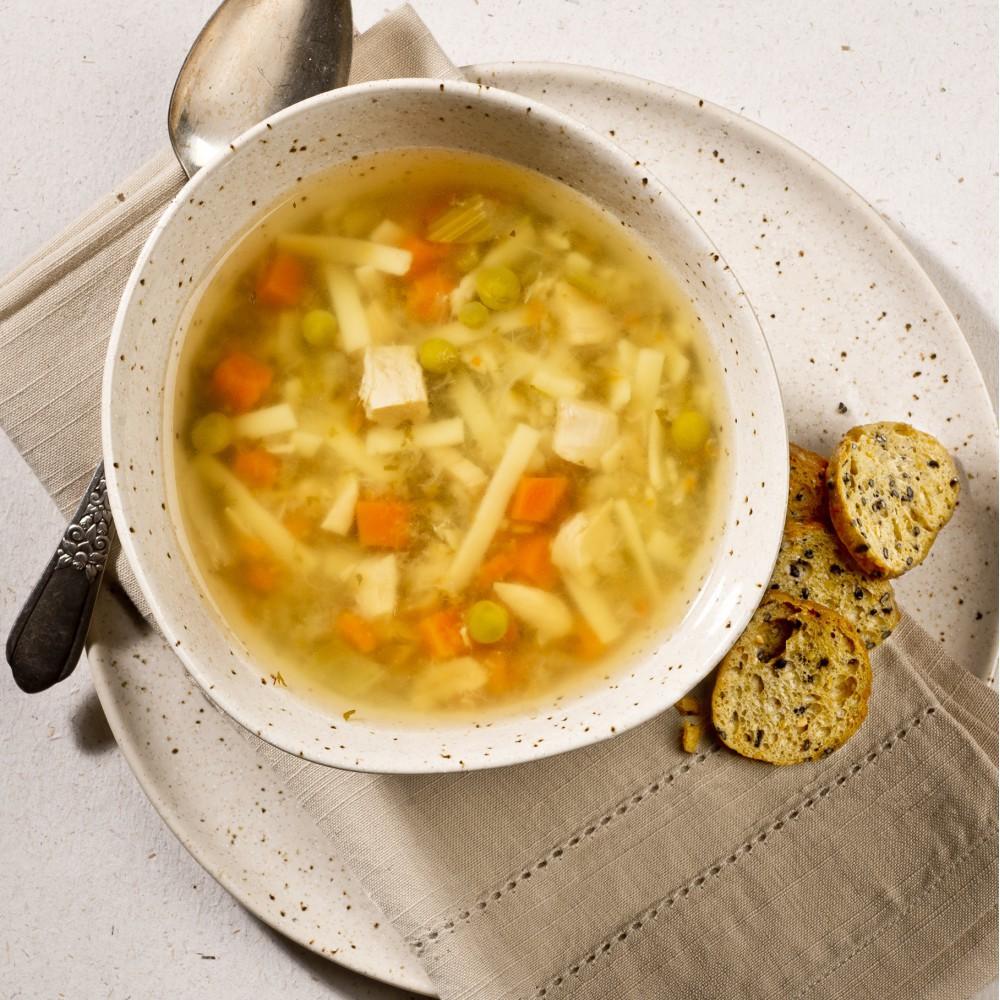 Chicken noodle soup Saveurs Santé  Soups