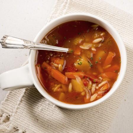 Vegetable garden soup Saveurs Santé  Soups