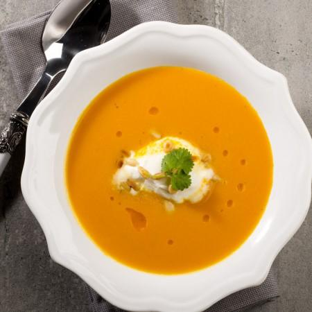 Cream of carrots and ginger Saveurs Santé  Vegetarian