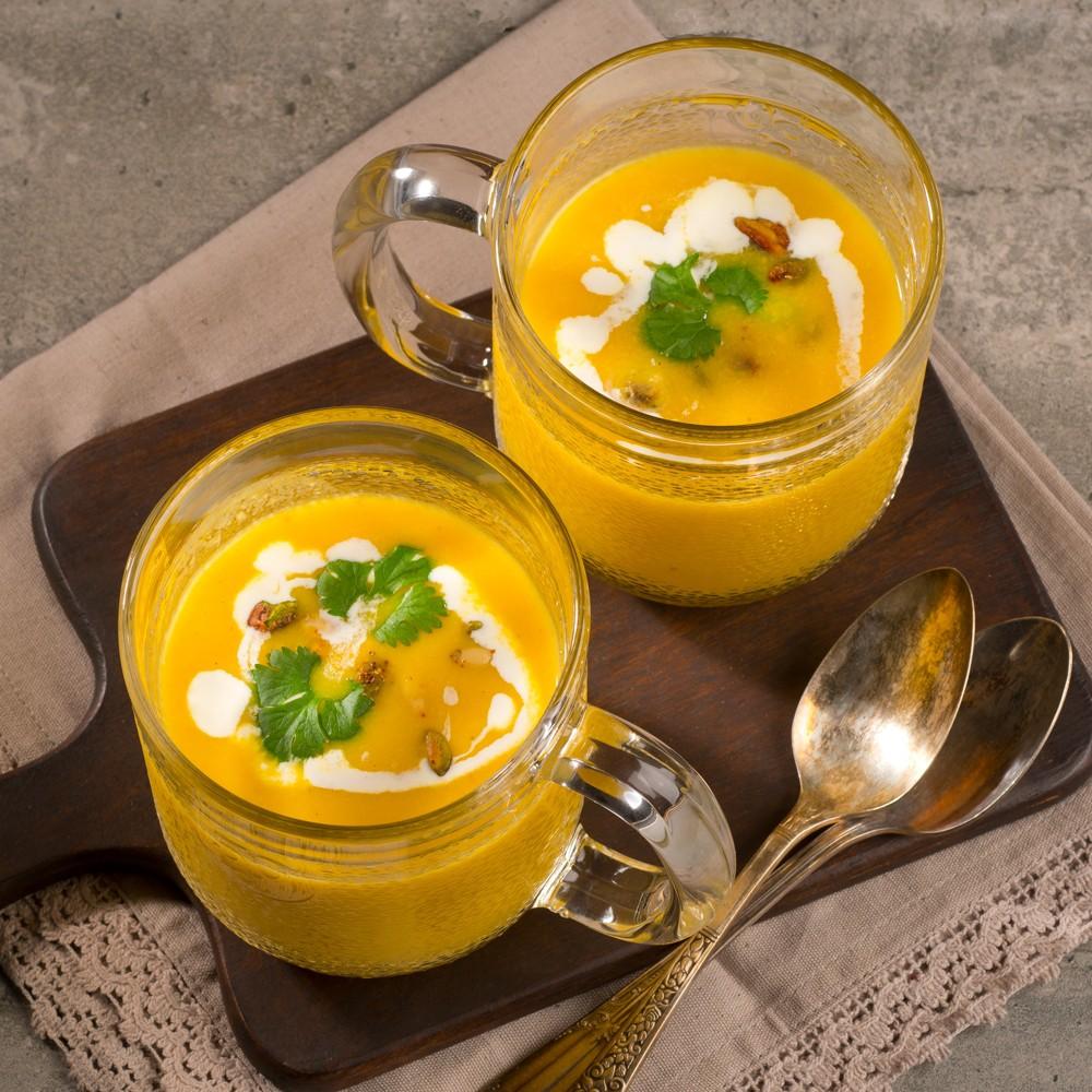 Curry and squash cream Saveurs Santé  Vegetarian