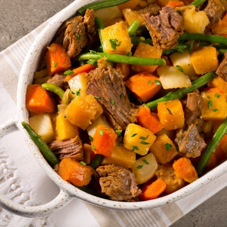 Beef and vegetables stew Saveurs Santé  Family Portions