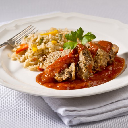 Meat loaf with vegetable rice Saveurs Santé  Portions for Children