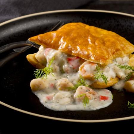 Seafood vol-au-vent Saveurs Santé  Individual Portions