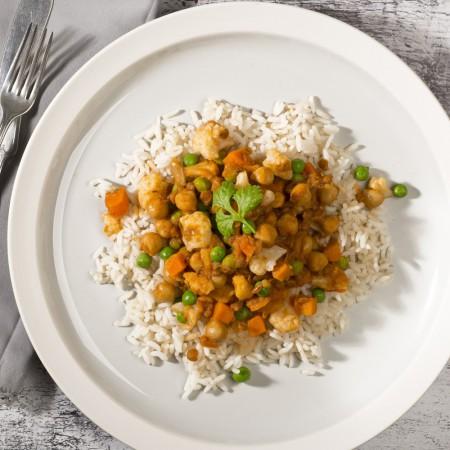 Lentils and chickpeas curry chiches Saveurs Santé  Individual Portions