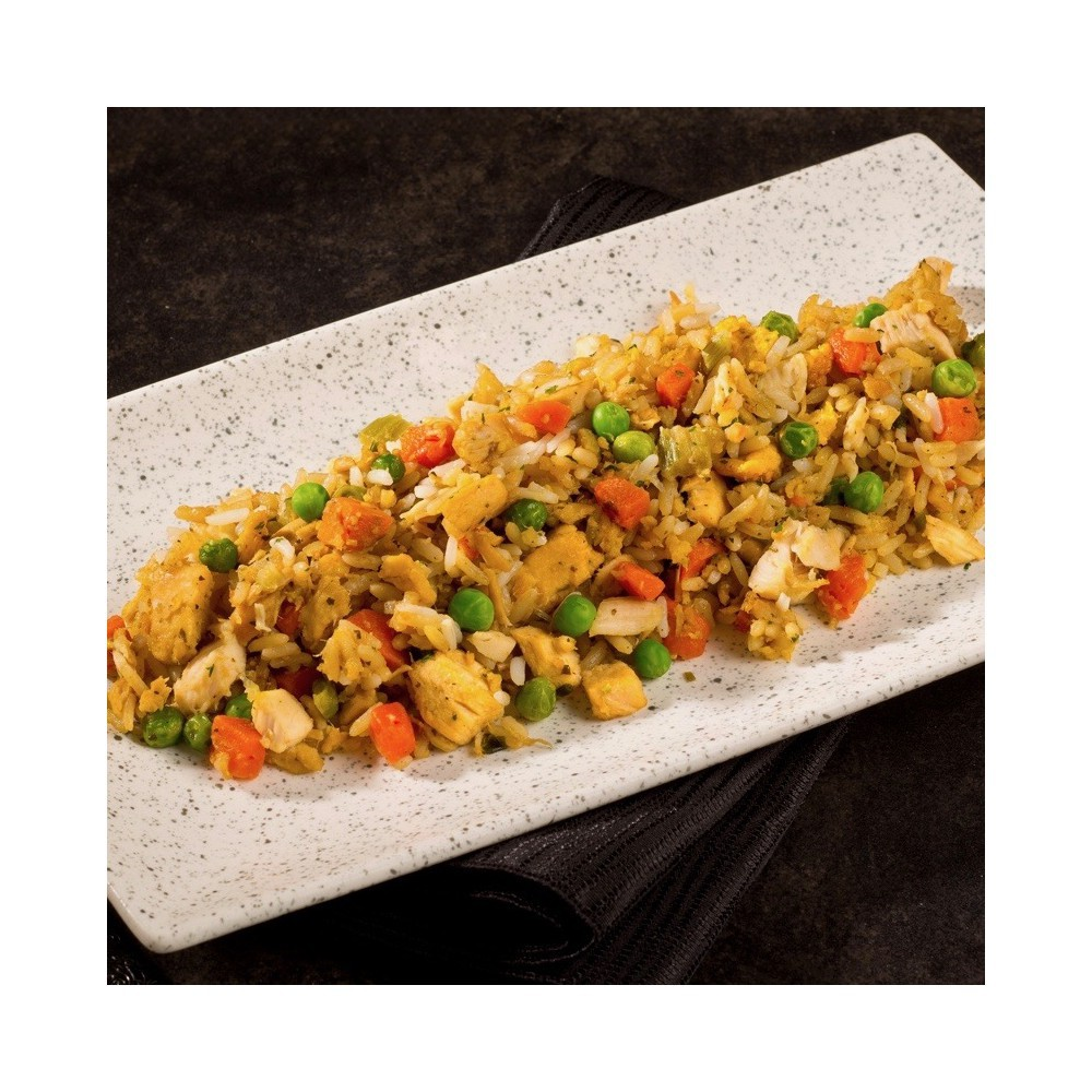 Chicken fried rice with basil Saveurs Santé  Family Portions
