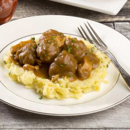 Old fasioned meatballs stew Saveurs Santé  Individual Portions