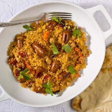 Moroccan style couscous Saveurs Santé  Family Portions