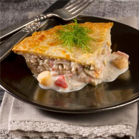 """Seafood pie 5"""" Saveurs Santé  Individual Portions"""