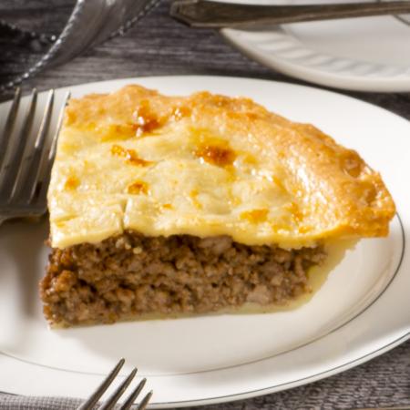 """Pork meat pie 8"""" Saveurs Santé  Healthy Flavors Holiday Feast"""