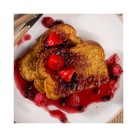 French toast & Berry stew Saveurs Santé  Lunches