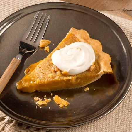 "Sugar cream pie 8"" - Saveurs Santé  Desserts"