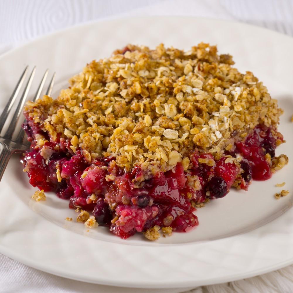 Apple & berry crumble Saveurs Santé  Desserts