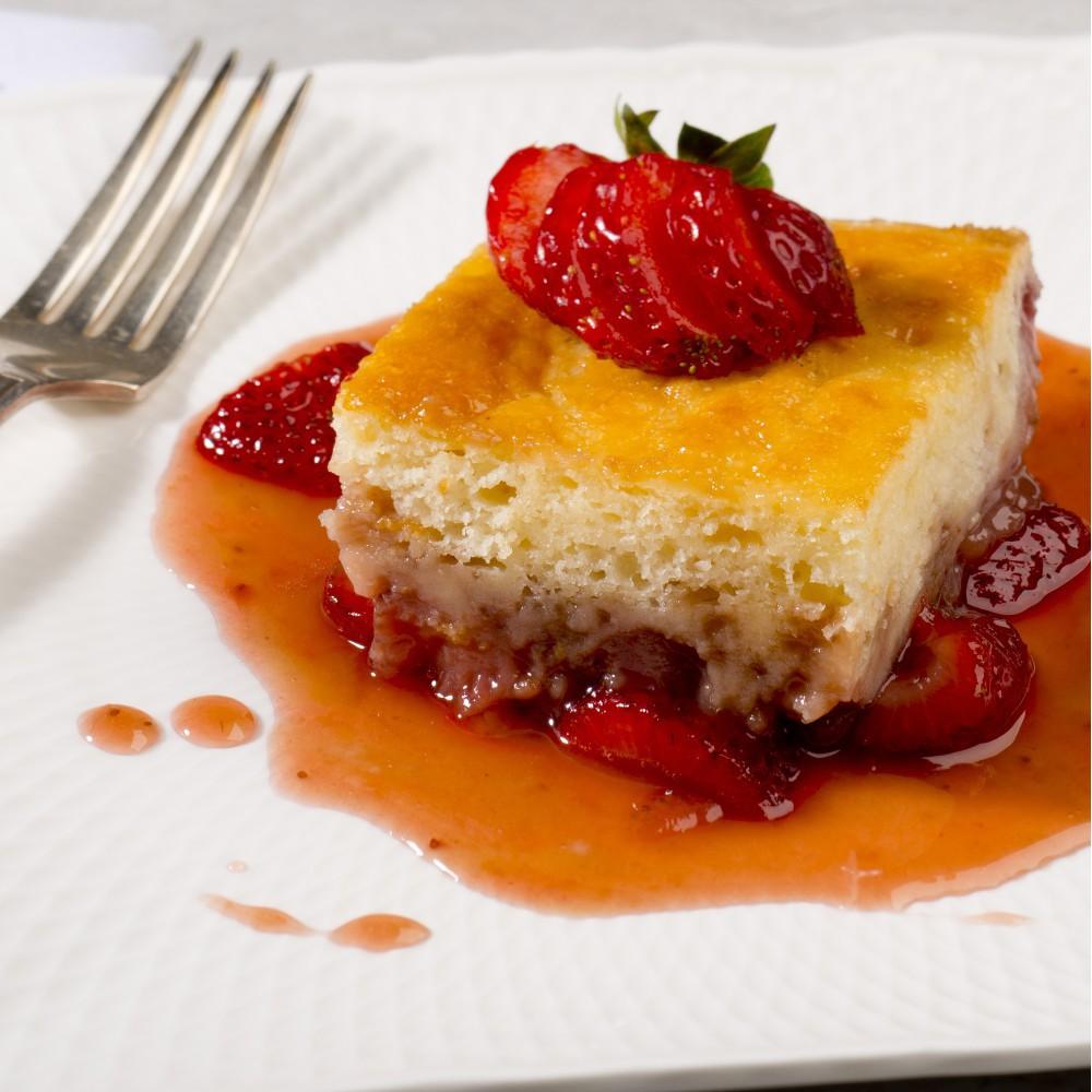 Strawberry pouding chômeur Saveurs Santé  Desserts