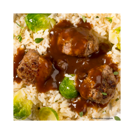 Veal meatballs with Forestière sauce Saveurs Santé  Irresistible dumplings!