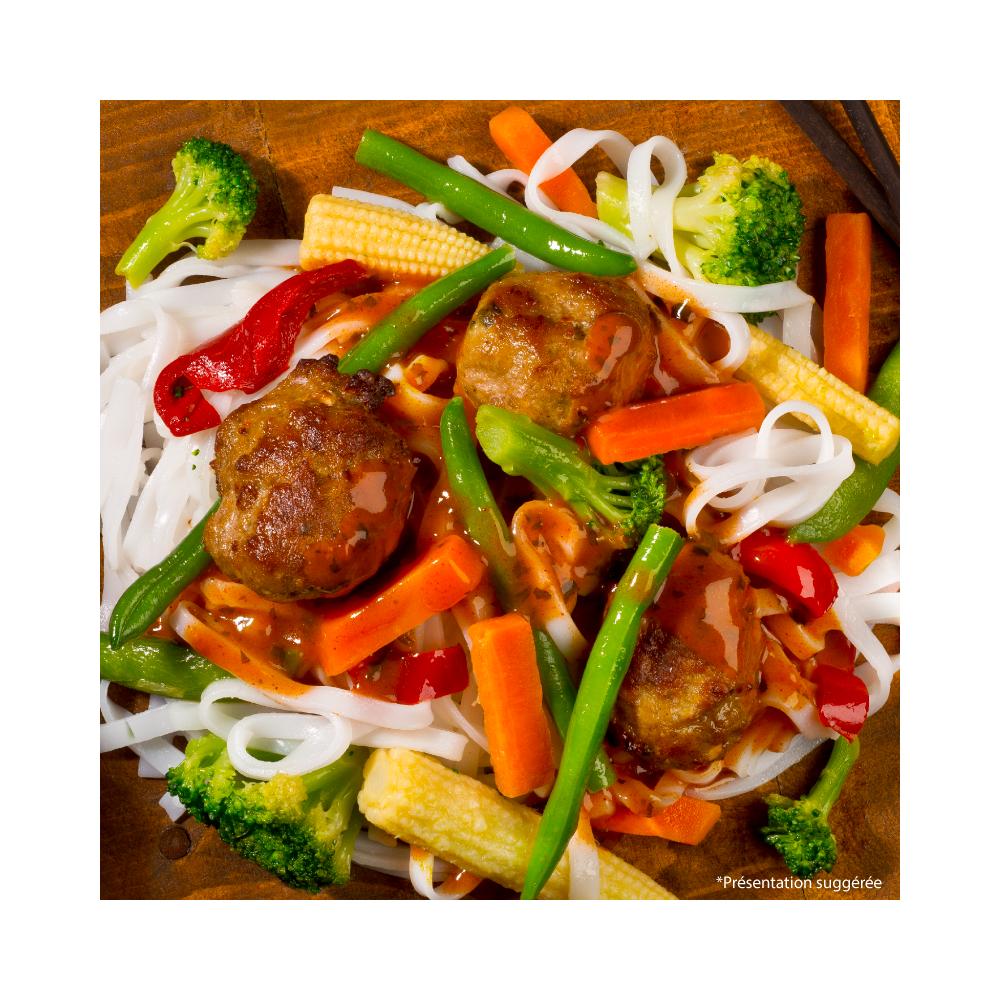 Pork meatballs with thaïs sauce Saveurs Santé  Irresistible dumplings!