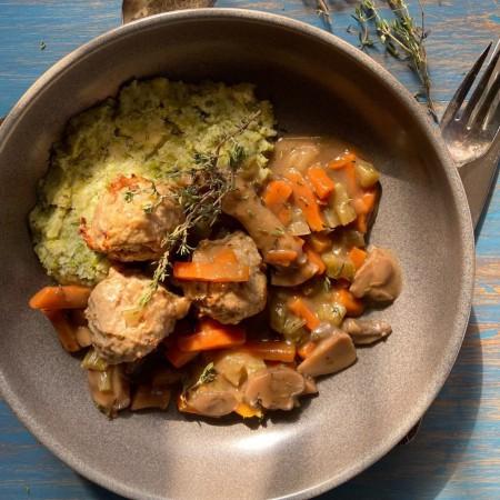 Turkey meatballs stew Saveurs Santé  Individual Portions