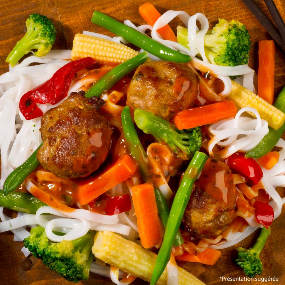 Poulet souvlaki sur riz aux légumes Saveurs Santé