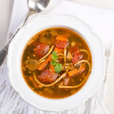 Veal & tomato florentine meal-soup Saveurs Santé  Soups-Meals