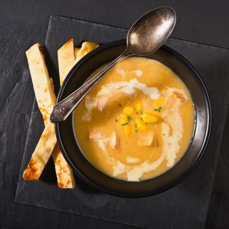 Crème de maïs et poulet Saveurs Santé