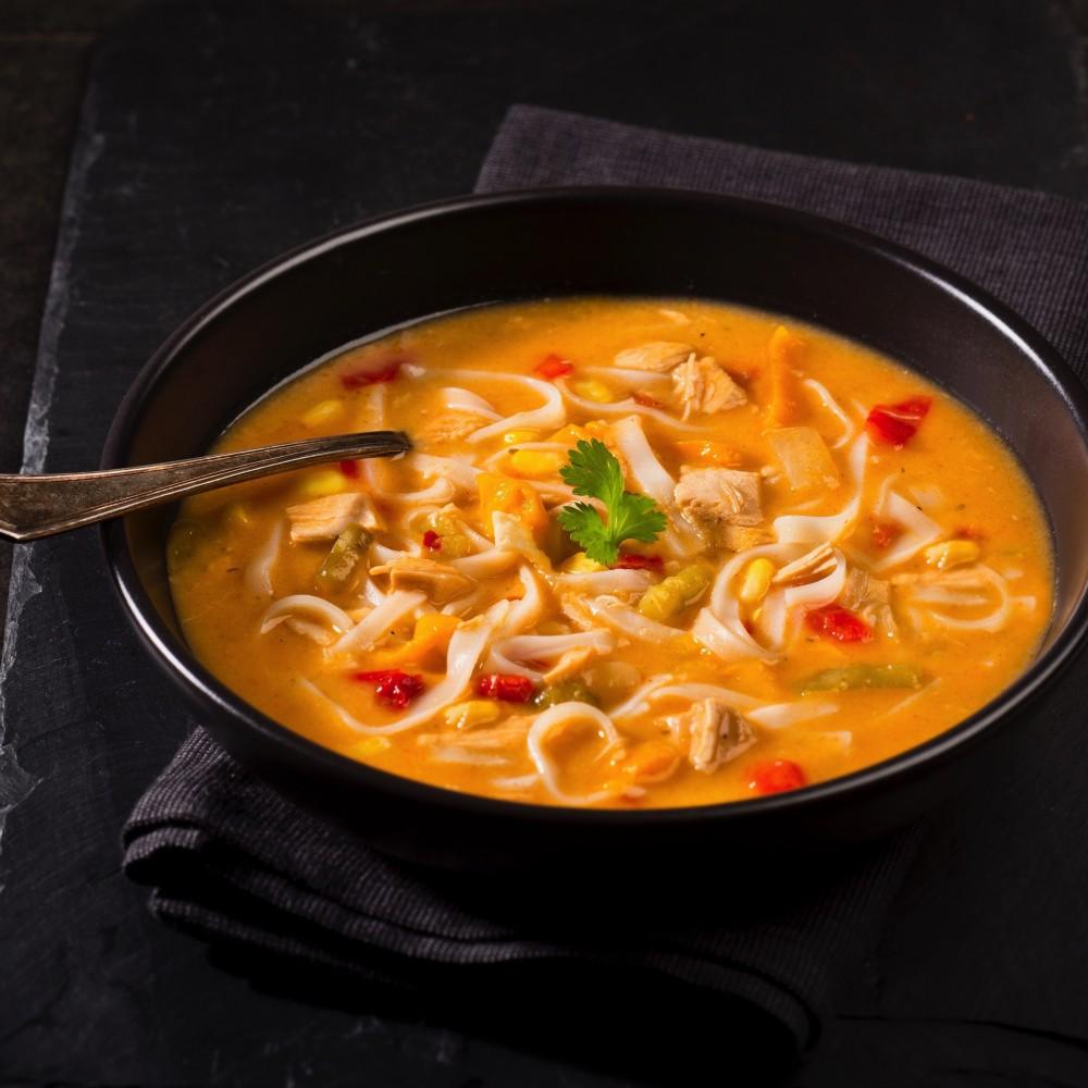 Soupe-repas thaï au poulet