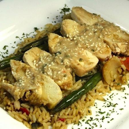 Soupe-repas thaï au poulet Saveurs Santé